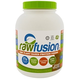 Raw Fusion, Raw Plant-Based Protein Fusion, Natural Chocolate, 6.56 oz (1861.8 g)