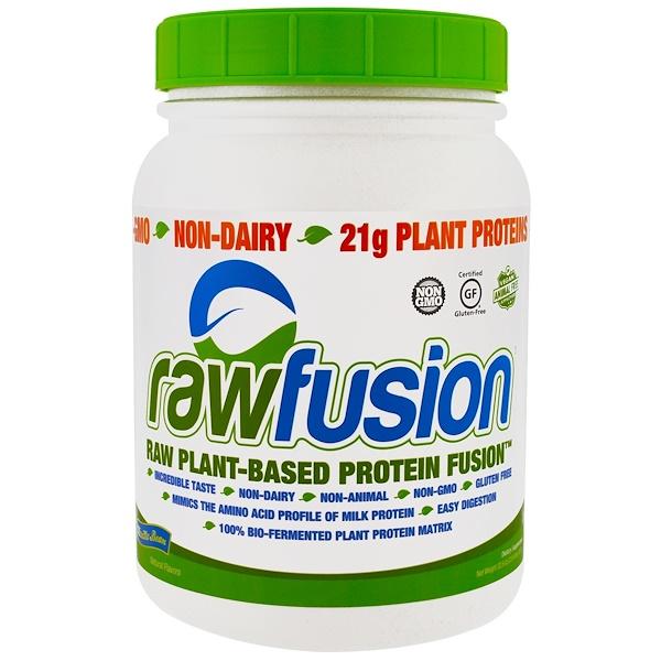 Raw Fusion, 原生態植物蛋白混合粉,香草豆,32、6盎司(927克)