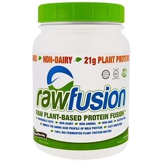 Raw Fusion, Raw Plant-Based Protein Fusion, Natural Chocolate, 32.8 oz (931 g)