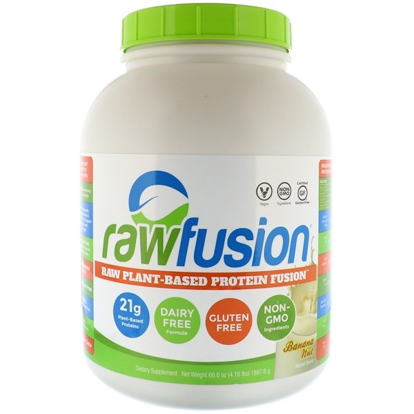 :Raw Fusion, Plant-Based Protein Dusion, Banana Nut, 66、6 oz (1887、6 g)