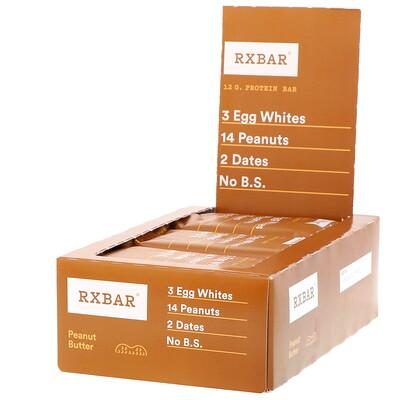 Купить Протеиновые батончики, арахисовое масло, 12 батончиков, 52 г (1, 83 унции) каждый