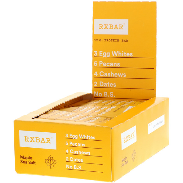 RXBAR, Protein Bars, Maple Sea Salt, 12 Bars, 1.83 oz (52 g) Each