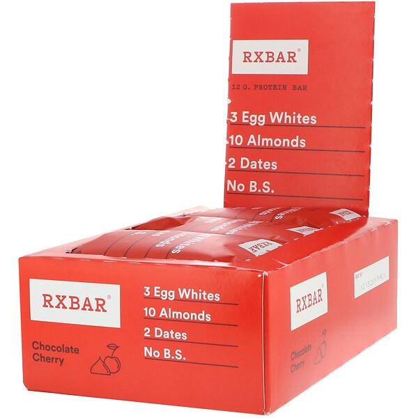 RXBAR, لوح بروتين، بالشيكولاتة والكرز، 12 لوح، 1.83 أوقية (52 جم) لكل لوح (Discontinued Item)