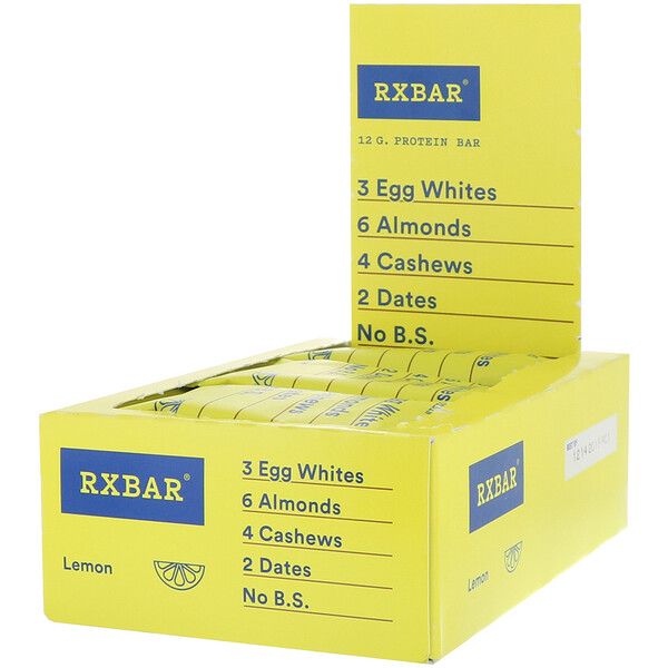 Protein Bar, Lemon, 12 Bars, 1.83 oz (52 g) Each