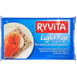 Ryvita, Хрустящие хлебцы из цельнозерновой ржи, хрустящая легкая рожь, 8,8 унций (250 г)