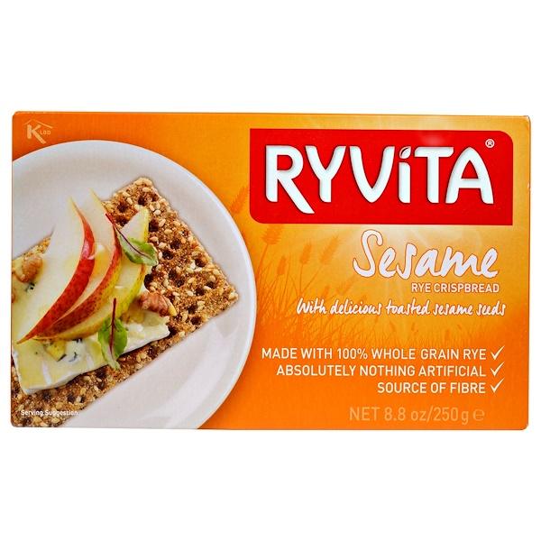 Ryvita, سمسم راي Crispbread، 8.8 أونصة (250 غرام) (Discontinued Item)