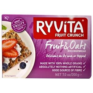 Ryvita, Фруктовый кранч, хрустящий рисовый хлеб рисом и овсянкой, 7 унций (200 г)