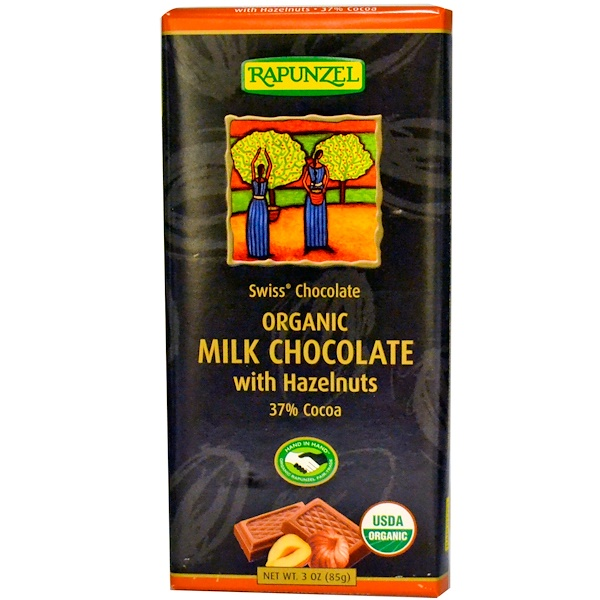 Rapunzel, Organic Milk Chocolate with Hazelnuts, 3 oz (85 g) (Discontinued Item)