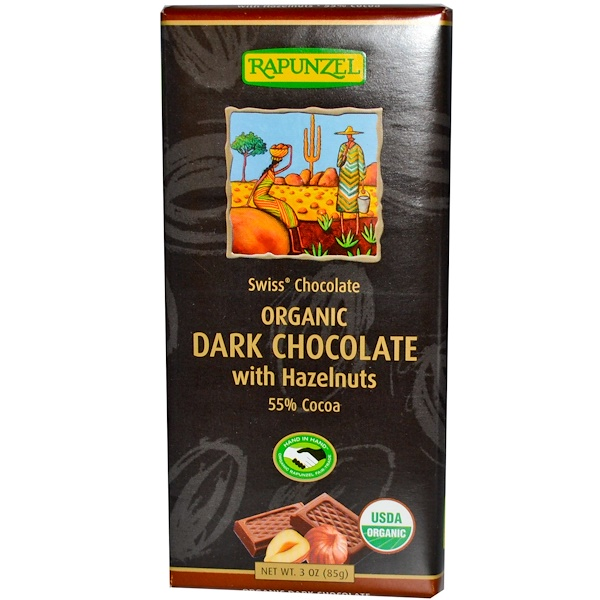 Rapunzel, Organic Dark Chocolate with Hazelnut, 3 oz (85 g) (Discontinued Item)