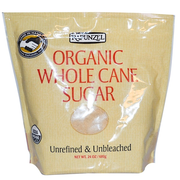 Rapunzel, Organic Whole Cane Sugar, 24 oz (680 g) (Discontinued Item)