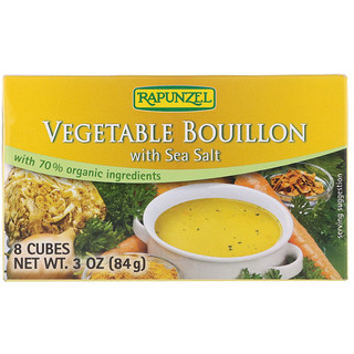 Rapunzel, Vegetable Bouillon with Sea Salt, 8 Cubes, 3 oz (84 g)