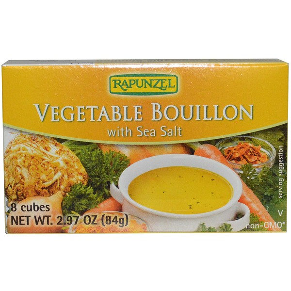 Rapunzel, Vegan Vegetable Bouillon with Sea Salt, 8 Cubes, 2.97 oz (84 g)