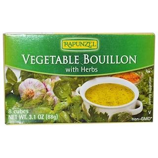 Rapunzel, Caldo de vegetales vegano con hierbas, 8 Cubos 3.1 oz (88 g)