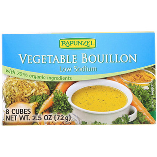 Rapunzel, Vegan Vegetable Bouillon, Low Sodium, 8 Cubes 2.5 oz (72 g)