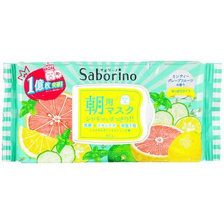 Saborino, Morning Beauty Face Mask Fresh, 32 Sheets, 306 ml