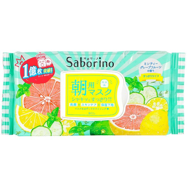 Saborino, Morning Face Mask Fresh, 32 Sheets, 306 ml