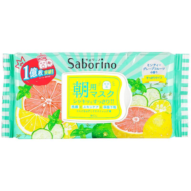 Saborino, 早安面膜綠色清爽型,32 片裝,306 毫升