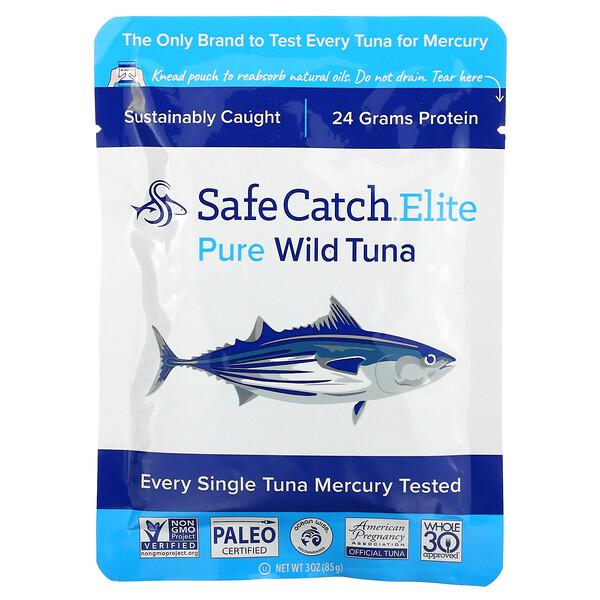 Elite, Wild Tuna, Pure, 3 oz (85 g)