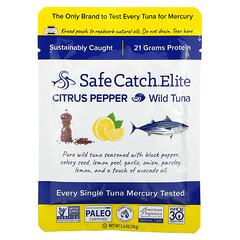 Safe Catch, Elite,野生金槍魚,柑橘胡椒味,2.6 盎司(74 克)