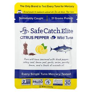 Safe Catch, Elite, Wild Tuna, Citrus Pepper, 2.6 oz (74 g)