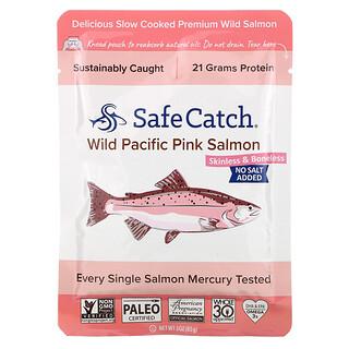 Safe Catch, Wild Pacific Pink Salmon, Skinless & Boneless, No Salt Added, 3 oz (85 g)