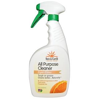 Sun & Earth, All Purpose Cleaner, Light Citrus, 22 fl oz (650 ml)