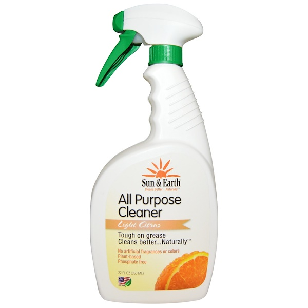Sun & Earth, All Purpose Cleaner, Light Citrus, 22 fl oz (650 ml) (Discontinued Item)