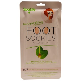 My Spa Life, Foot Sockies, Spearmint & Tea Tree Oil, 1 Pair Foot Masks, 0.89 oz (25 g)