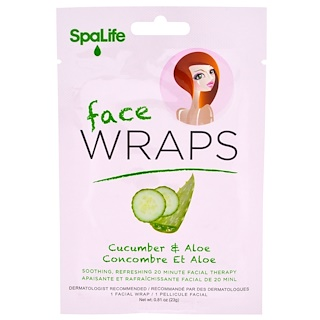My Spa Life, Face Wraps, Cucumber & Aloe, 1 Facial Wrap