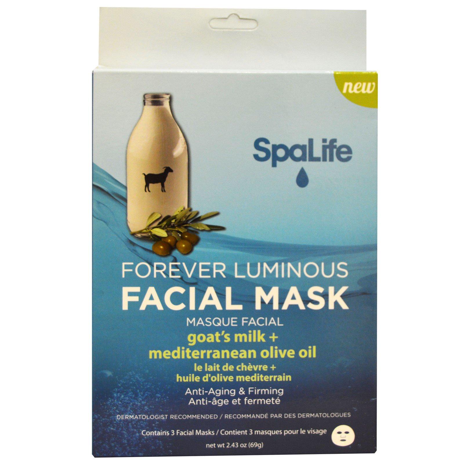 my spa life masque pour le visage lumineux pour toujours lait de ch vre huile d 39 olive. Black Bedroom Furniture Sets. Home Design Ideas