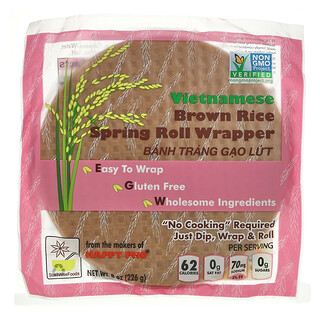 Star Anise Foods, Brown Rice Spring Roll Wrapper, 8 oz (226 g)