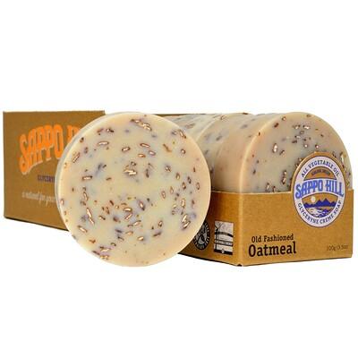Глицериновое мягкое мыло, В старом стиле С овсяными хлопьями, 12 штук по 3.5 унции (100 г) глицериновое крем мыло миндальное 12 кусков по 3 5 унции 100 г