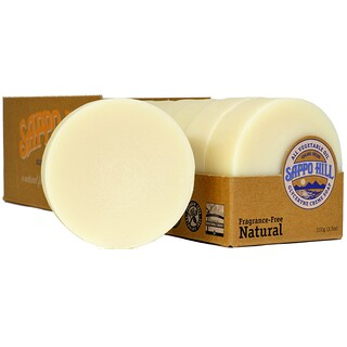 Sappo Hill, Glyceryne Cream Soap, Natural, Fragrance-Free, 12 Bars, 3.5 oz (100 g) Each