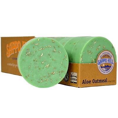 Глицериновое мягкое мыло, Алое и толокно,12 штук по 3.5 унции (100 г) глицериновое крем мыло миндальное 12 кусков по 3 5 унции 100 г