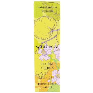 Sarabecca, Natural Roll-On Perfume, Floral Citrus , .25 oz (7.5 ml)