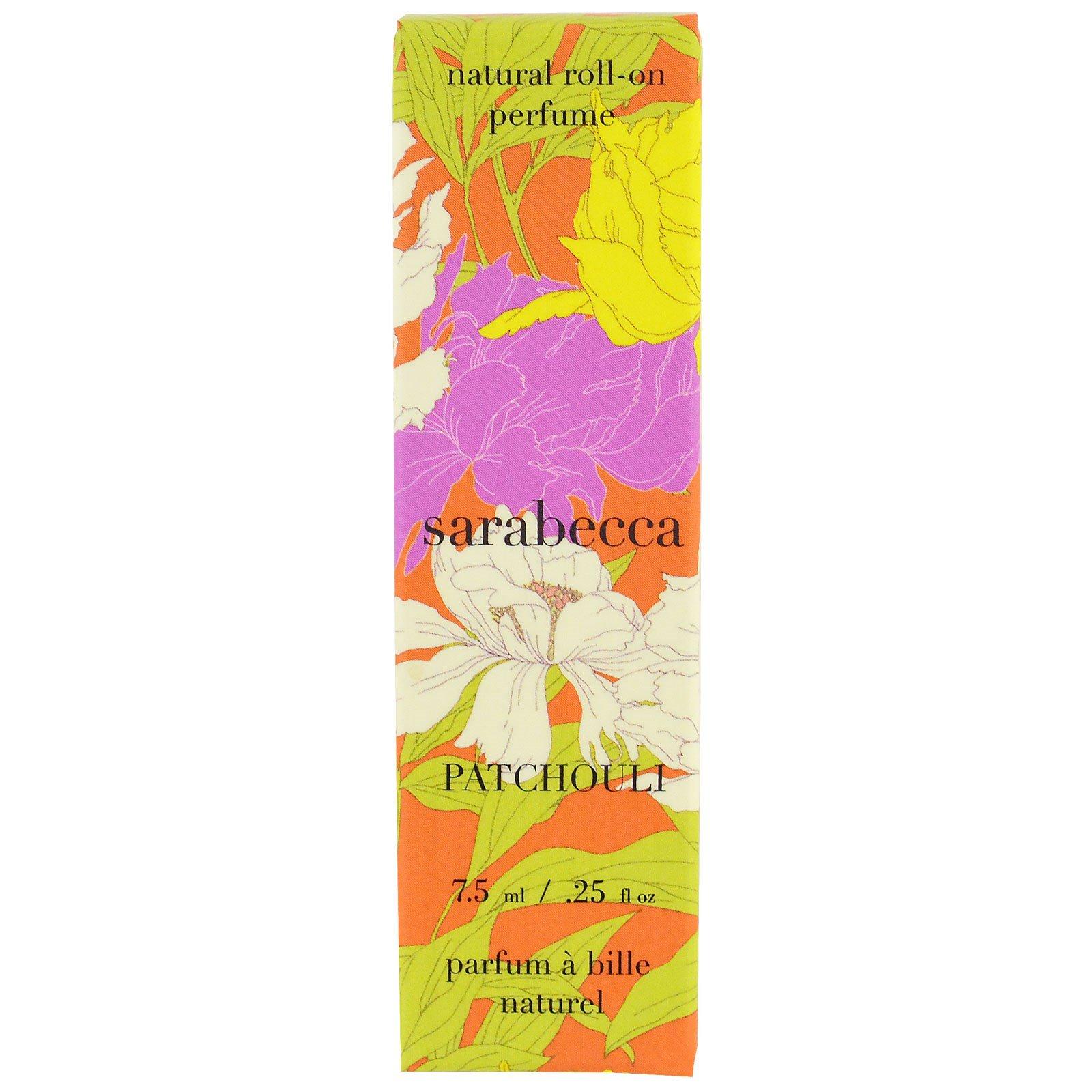 Sarabecca, Натуральные роликовые духи, пачули, ,25 унц.(7,5 мл)