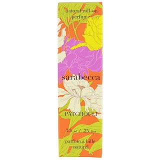 Sarabecca, Natural Roll-On Perfume, Patchouli, .25 fl oz (7.5 ml)