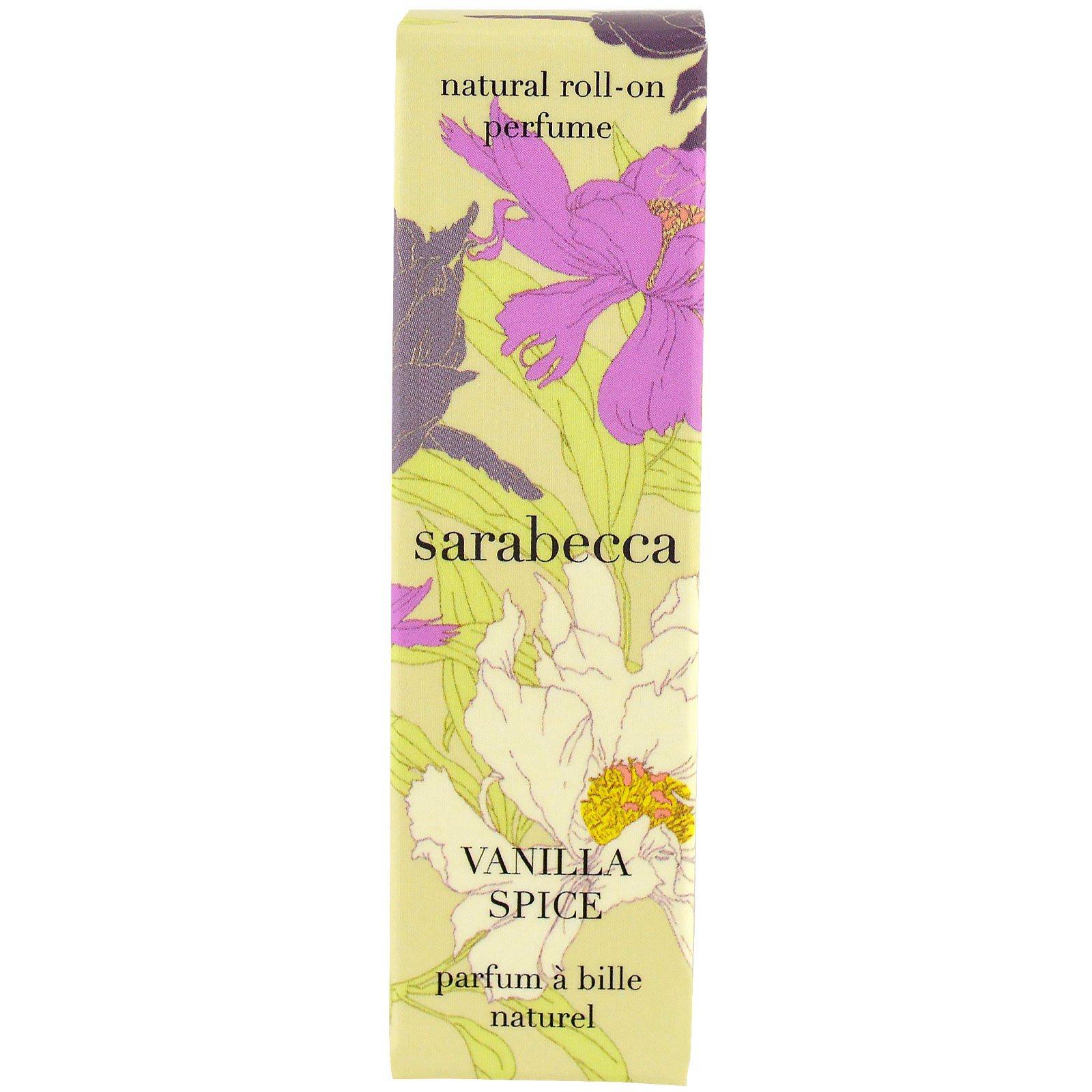 Sarabecca, Натуральные роликовые духи, Ваниль и специи, ,25 унции (7,5 мл)
