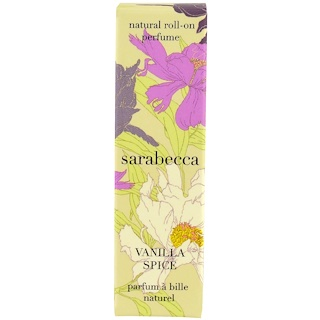 Sarabecca, Natural Roll-On Perfume, Vanilla Spice, .25 fl oz (7.5 ml)