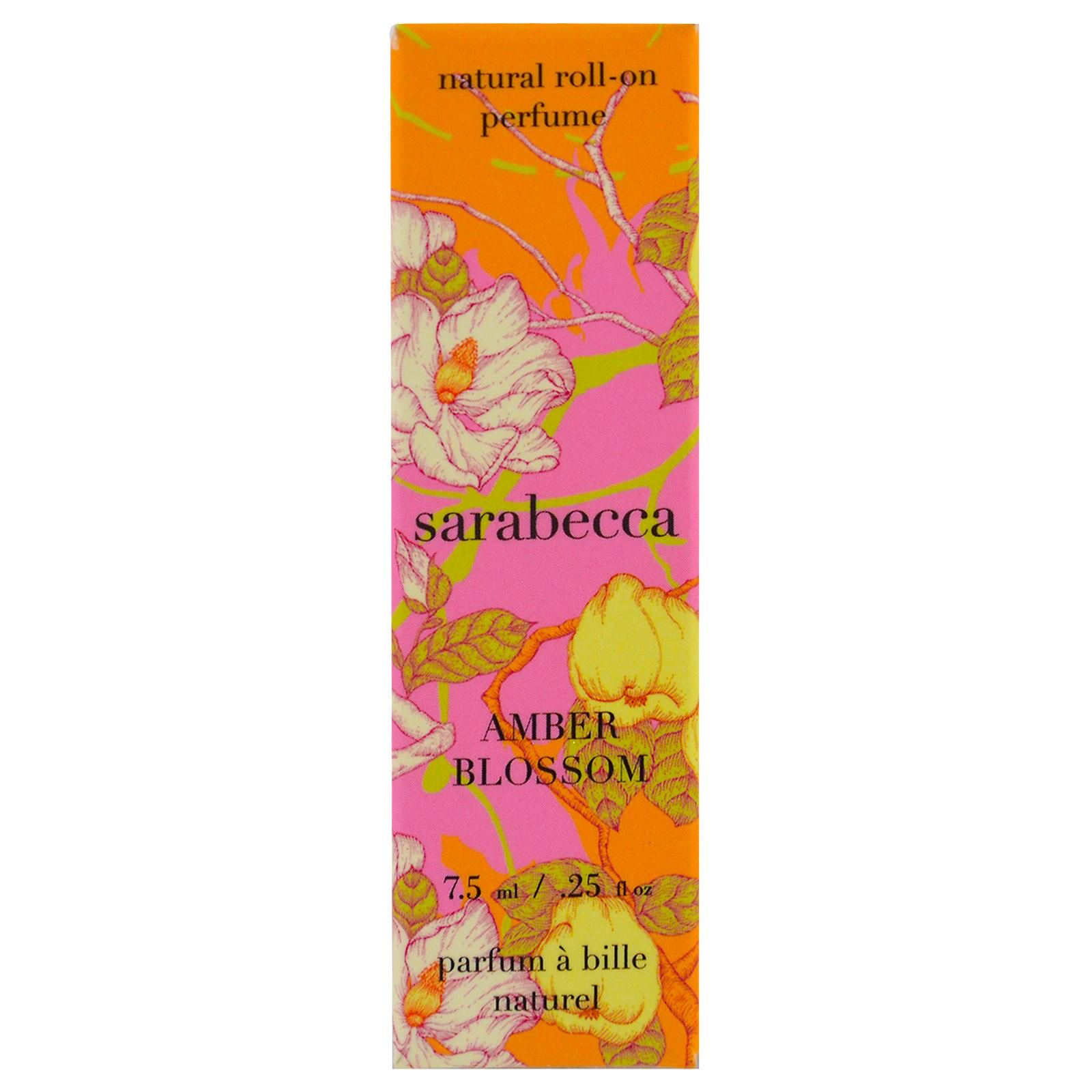 Sarabecca, Натуральные духи с шариковым аппликатором, Янтарный цветок, 0,25 унции (7,5 мл)