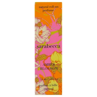 Sarabecca, Natural Roll-On Perfume, Amber Blossom, .25 fl oz (7.5 ml)