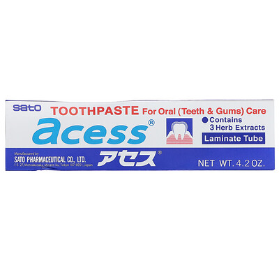 Купить Sato Acess, зубная паста для ухода за ротовой полостью, 125г (4, 2унции)