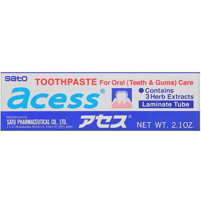 Купить Sato Acess, зубная паста для ухода за ротовой полостью, 60г