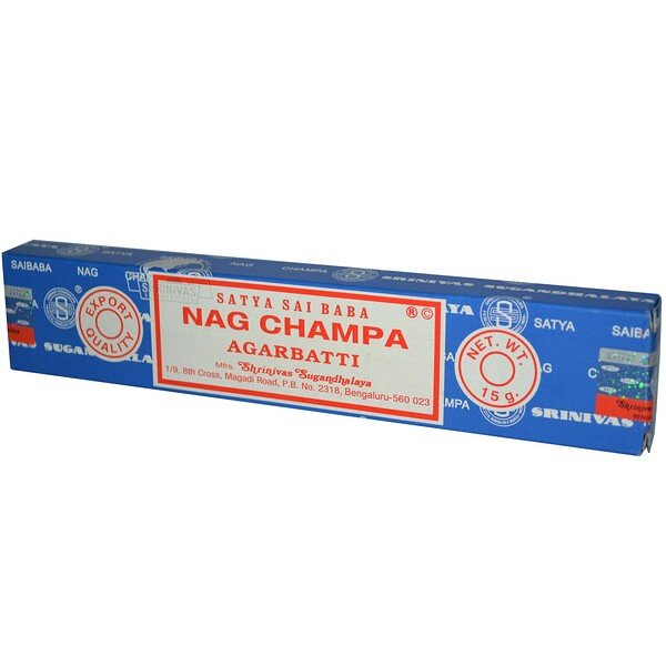 Satya, Nag Champa Agarbatti Incense, 10 Sticks, (15 g)