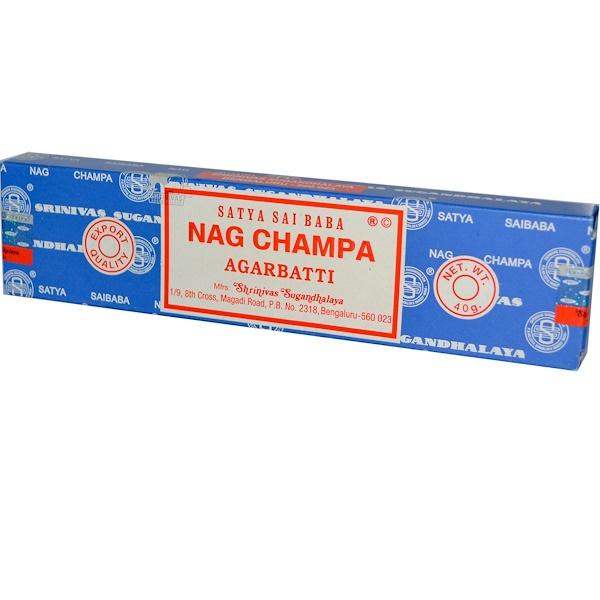 Sai Baba, Satya, Nag Champa, Agarbatti, Incense Sticks, 40 g (Discontinued Item)