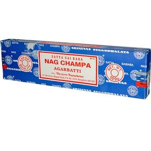 Сай баба, Satya, Nag Champa, Agarbatti Incense Sticks, 100 g отзывы