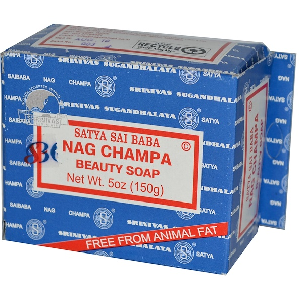 Sai Baba, Nag Champa Beauty Soap, 5 oz (150 g) (Discontinued Item)
