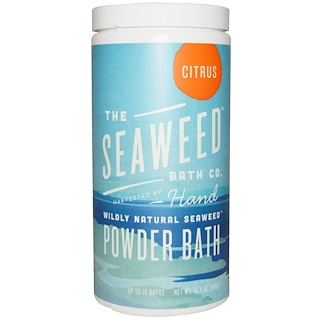 Seaweed Bath Co., Baño de algas en polvo salvajemente natural, cítrico, 16.8 oz (476 g)