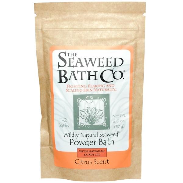 Seaweed Bath Co., Powder Bath with Hawaiian Kukui Oil, Citrus Scent, 2.0 oz (57 g) (Discontinued Item)