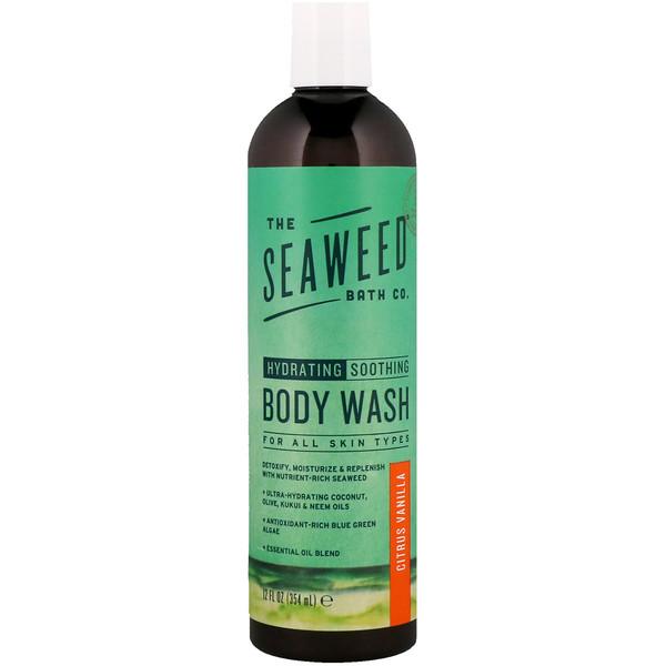 The Seaweed Bath Co., ハイドレーティングスージングボディウォッシュ、シトラスバニラ、12液量オンス (354 ml)